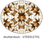 illustration in stained glass... | Shutterstock .eps vector #1703311741