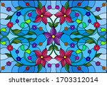 illustration in stained glass... | Shutterstock .eps vector #1703312014