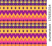Bright Ethnic Zigzag Pattern ...