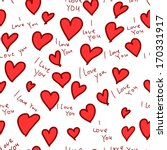 hearts  i love you  seamless... | Shutterstock .eps vector #170331917