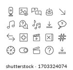 set of sign related vector line ...