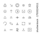 simple set of arrow icons in... | Shutterstock .eps vector #1703324311