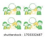 illustration of conversation... | Shutterstock .eps vector #1703332687