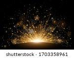 vector rising sun light effect... | Shutterstock .eps vector #1703358961