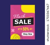 flash sale up to 50  off social ...   Shutterstock .eps vector #1703367667