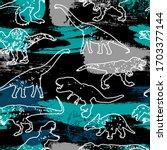 Seamless Dino Pattern  Print...