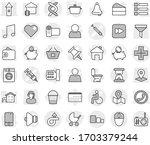 editable thin line isolated... | Shutterstock .eps vector #1703379244