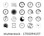clock line icon set.collection...
