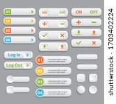 web buttons collection.... | Shutterstock . vector #1703402224