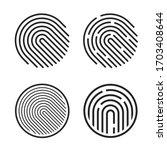 fingerprint icon vector or...   Shutterstock .eps vector #1703408644