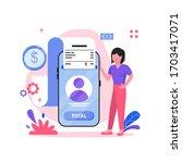 total payment illustration... | Shutterstock .eps vector #1703417071