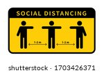 social distancing. keep the 1 2 ... | Shutterstock .eps vector #1703426371
