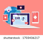ehr  electronic health record...   Shutterstock .eps vector #1703436217