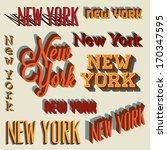 3d retro typography set  new...   Shutterstock .eps vector #170347595