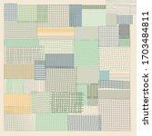 abstract mesh line pattern silk ... | Shutterstock .eps vector #1703484811