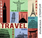 Vintage Travel Poster With...