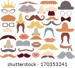 mustache and photoprops | Shutterstock .eps vector #170353241