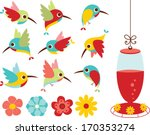 humming birds | Shutterstock .eps vector #170353274