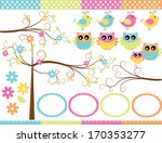 owls in the forest | Shutterstock .eps vector #170353277