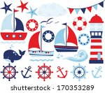 sailing away  boy  | Shutterstock .eps vector #170353289