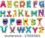monster alphabet | Shutterstock .eps vector #170353301