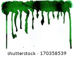 watercolor green texture... | Shutterstock . vector #170358539