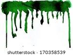 watercolor green texture... | Shutterstock . vector #170358539