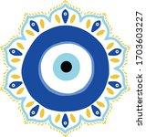evil eye mandala vector... | Shutterstock .eps vector #1703603227