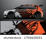 rally car decal graphic wrap... | Shutterstock .eps vector #1703620051