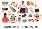 collection of delivery service  ... | Shutterstock .eps vector #1703622301