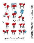 sweet couple set | Shutterstock .eps vector #170362781