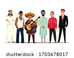 different nationality. man in... | Shutterstock .eps vector #1703678017