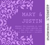 wedding card | Shutterstock .eps vector #170368559