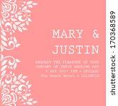 wedding card | Shutterstock .eps vector #170368589