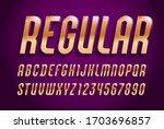 3d golden font  trendy volume... | Shutterstock .eps vector #1703696857