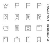 bookmarks line icons set....   Shutterstock .eps vector #1703699014