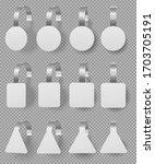 wobblers mockup set. blank... | Shutterstock .eps vector #1703705191