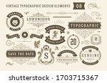 vintage typographic design... | Shutterstock .eps vector #1703715367