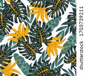 original seamless tropical...   Shutterstock .eps vector #1703739211