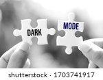 dark mode  displays light text...