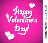 happy valentine's day card and... | Shutterstock .eps vector #170376221