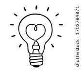 Sparkling Light Bulb Icon On A...