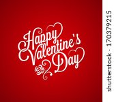 valentines day vintage lettering background | Shutterstock vector #170379215