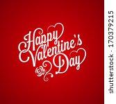 valentines day vintage... | Shutterstock .eps vector #170379215