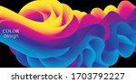 fluid flow. ink splash. liquid... | Shutterstock .eps vector #1703792227