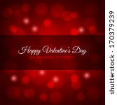 valentines day red lights... | Shutterstock .eps vector #170379239