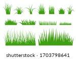 green grass vector set. flat... | Shutterstock .eps vector #1703798641