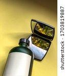 beauty care cleanser in dark... | Shutterstock . vector #1703819887
