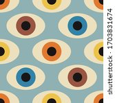 seamless pattern with minimal... | Shutterstock .eps vector #1703831674