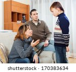 mother and  father scolding... | Shutterstock . vector #170383634